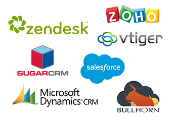 sugarcrm, sales force, dynamics, zoho call center app