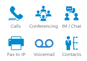 phone calls, conferencing, messaging on ip pbx