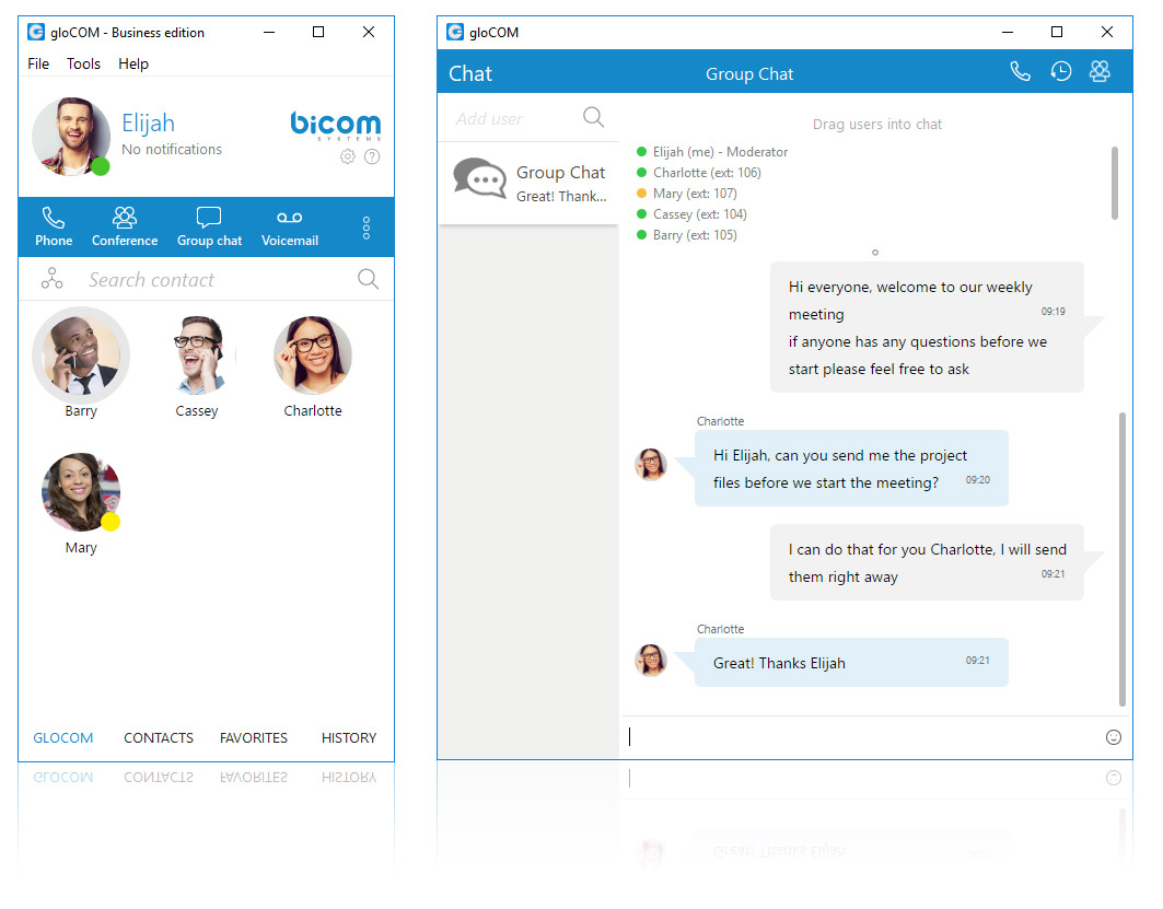 gloCOM -Unified Communications - Instant Messaging