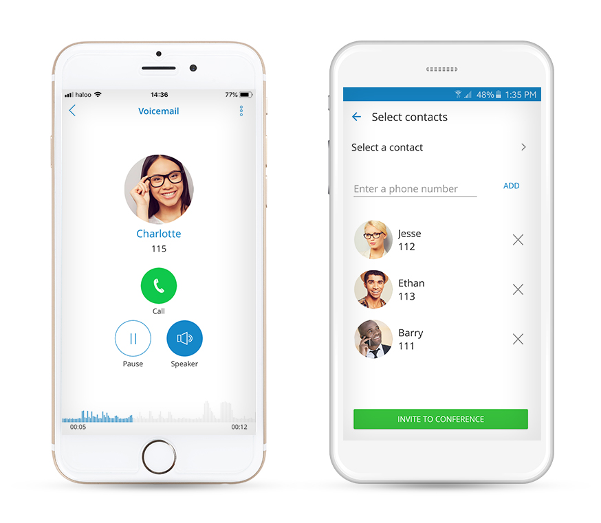 gloCOM GO - Mobile Unified Communications platforms - iOS and Android