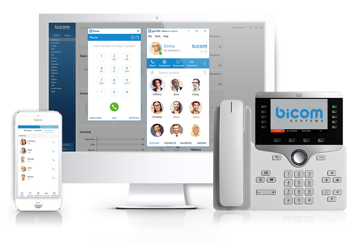 gloCOM and gloCOM GO, Desktop and Mobile Unified Communications - PBX - Supported Platforms